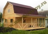 Каркасно-щитовой дом 6х8 с мансардой