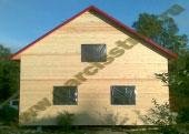 Каркасно-щитовой двухэтажный дом 8х8