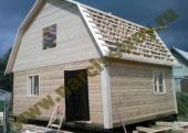 Дом 6х6 из бруса с ломаной крышей