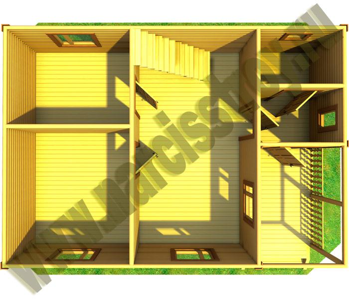 3-d план 1-го этажа дома