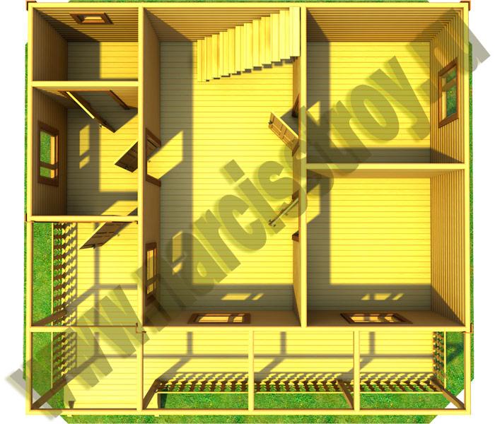 3-d схема 1-го этажа