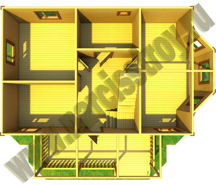 1-го этажа брусового дома