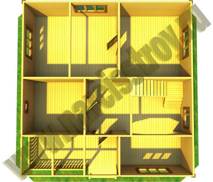 дом 8*9 с мансардой 3-D