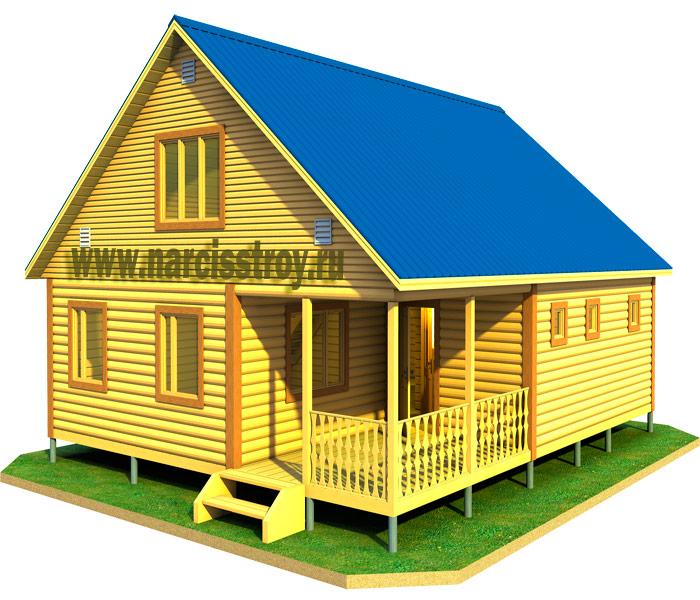 Проекты домов 12х12 - postroiru