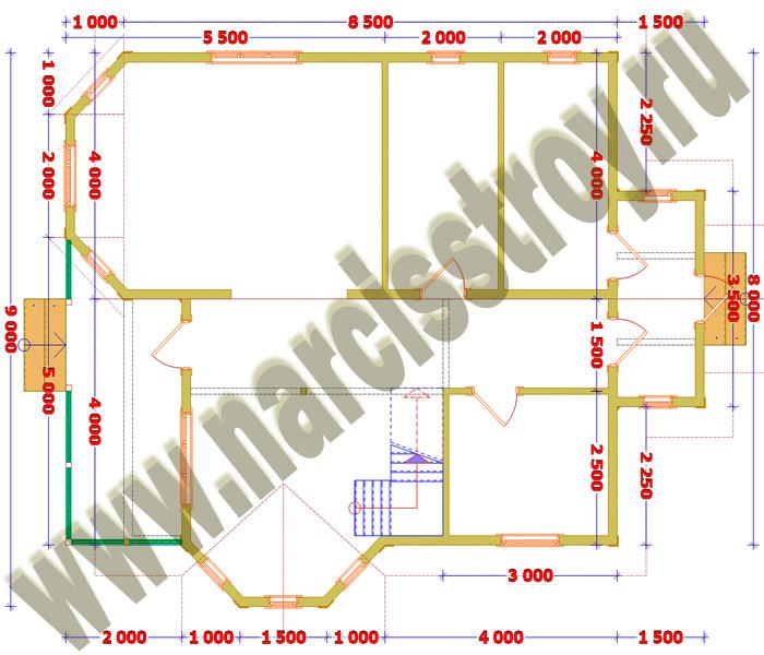 Схема 1-го этажа