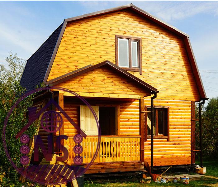 Дом из бруса с ломаной крышей своими руками