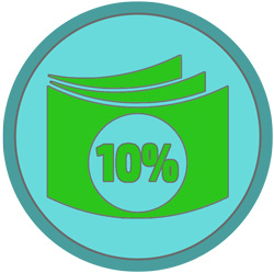 Первый платеж - 10% от суммы договора