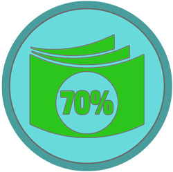 Второй этап оплаты - 70%