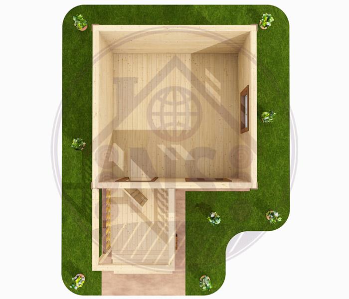 Строительство деревянных домов  проекты от СК 35